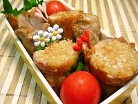 10/4 手作りチャーシューと肉巻き焼きうどんのお弁当☆ 2012/10/04 11:22:08