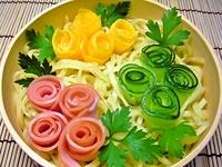 6月7日 冷し中華deミニ薔薇園のお弁当☆ 2011/06/07 07:30:00
