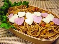 11月15日 挽肉、コ~ン入りハ~トいっぱいミートスパ弁当☆ 2011/11/15 06:27:17