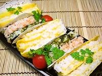3月10日 カラフルおにぎりサンドのお弁当☆ 2012/03/10 07:42:19