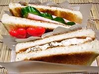 3月24日 ラッピングで可愛いサンドイッチ弁当☆ 2012/03/24 09:36:18