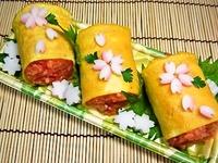 3月30日 春・さくらオムライスdeおにぎりのお弁当☆ 2012/03/30 09:20:26