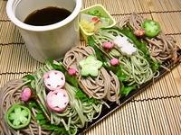 4月1日 春のさくら抹茶ざるそばのお弁当☆ 2012/04/01 07:44:36