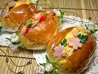 4月4日 春・2種の桜ロールサンドのお弁当☆ 2012/04/04 09:34:46