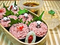 4月17日 春・彩り梅そうめんde太巻きのお弁当☆ 2012/04/17 09:16:35