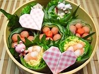 4月18日 カワ(・∀・)イイ!!お花生春巻きのお弁当☆ 2012/04/18 09:25:55