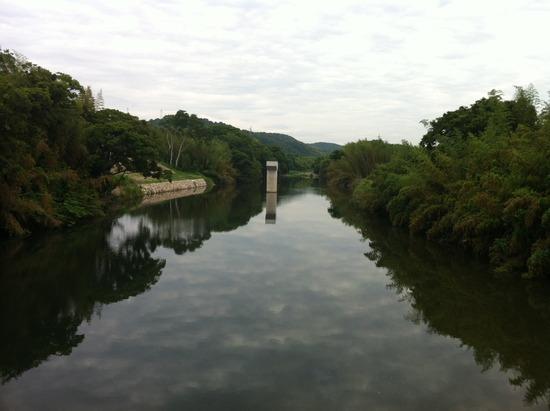 丸岡橋にて
