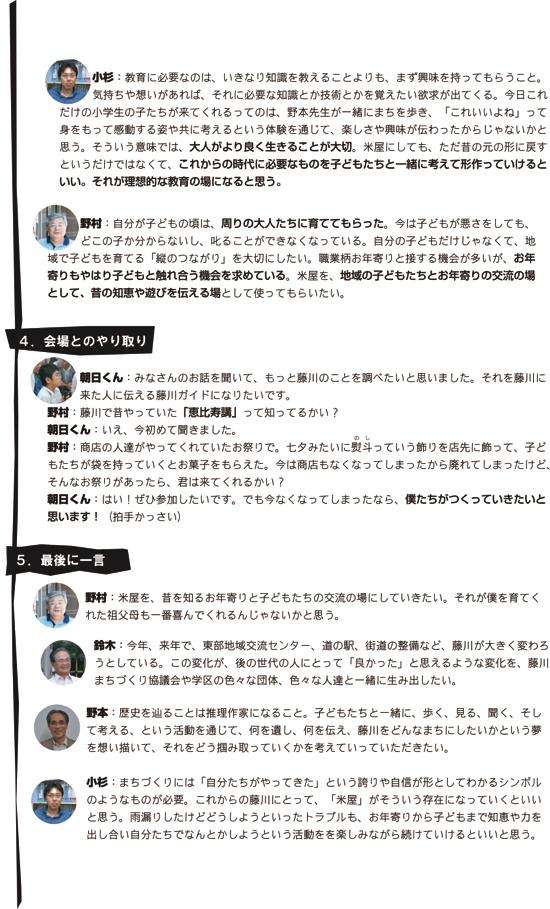米屋通信1〜藤川宿米屋活用フォーラムその7
