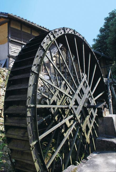 岡崎の風景-桜井寺町の水車