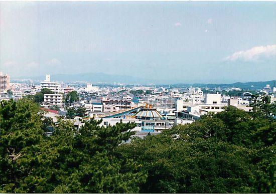 古今景観1〜岡崎城からの眺め