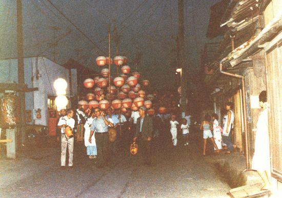 藤川むかし写真館⑲津島神社の傘燈祭り