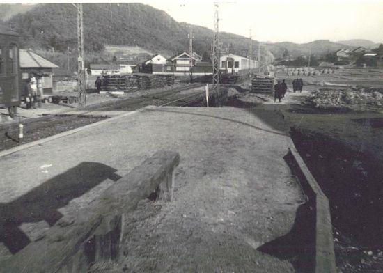 藤川むかし写真館22藤川駅からの東方面の眺望
