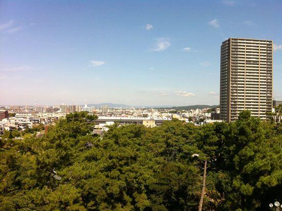岡崎城からの眺望