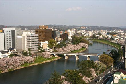 乙川の景観