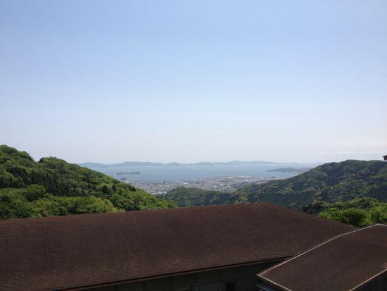 桑谷山荘前からの眺望