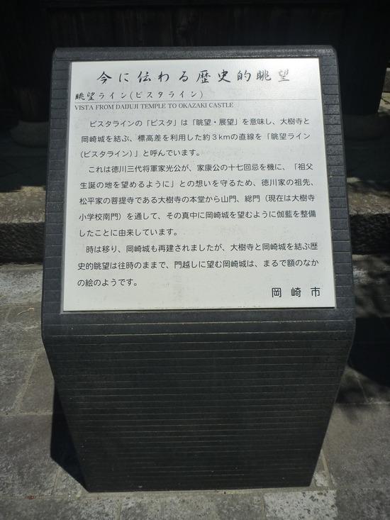 大樹寺より岡崎城を望む(ビスタライン)