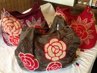ベトナムの手作り刺繍バック3,800円