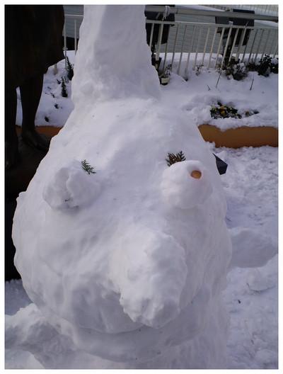 雪の日アート発見