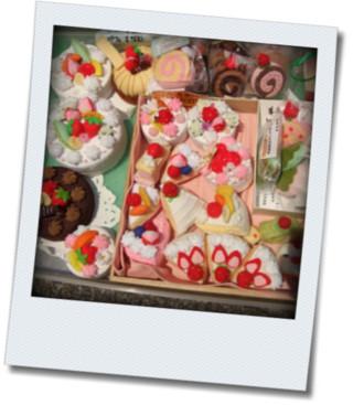 フェルトのケーキたち
