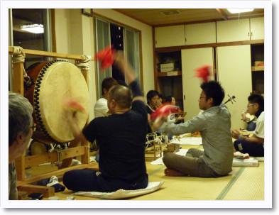 喜多町お囃子練習