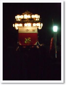 西町夜の山車