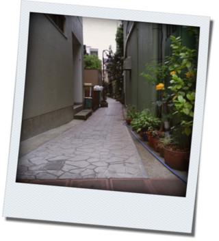 乾物屋の脇の細道