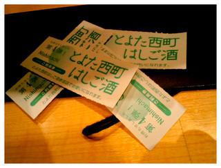 雑に置かれたチケット