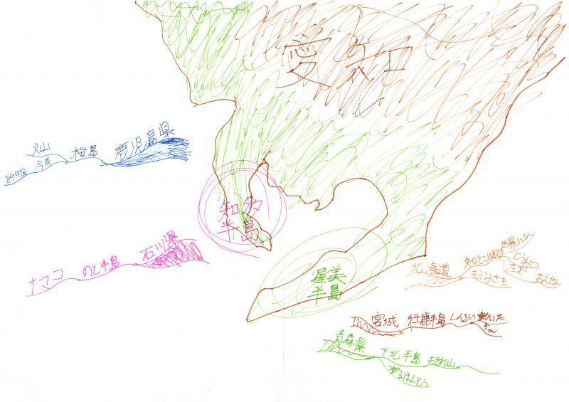みんなのマインドマップ~半島と岬(小学5年生)