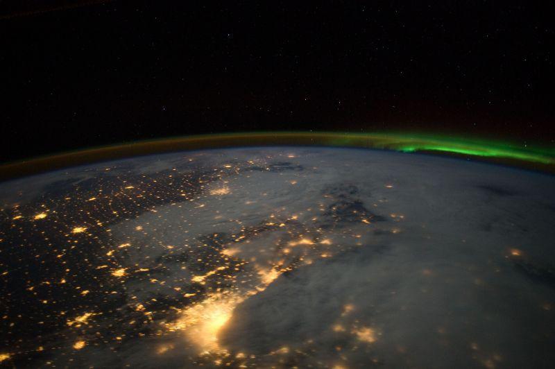 宇宙からすてきな写真が!