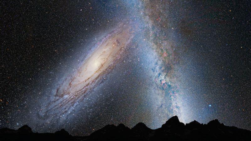 銀河が激突!?