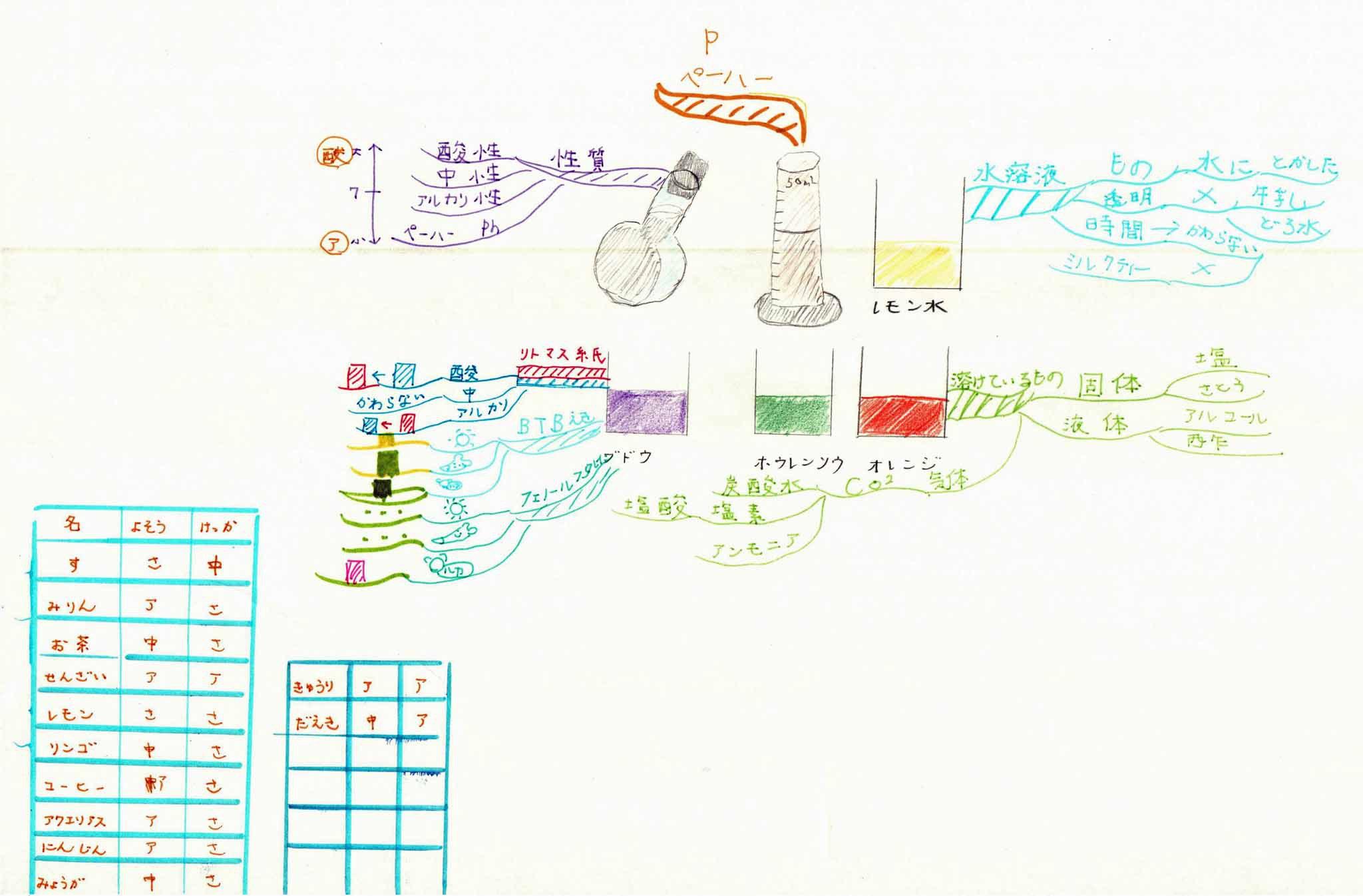 みんなのマインドマップ~水溶液(小学5~6年生)