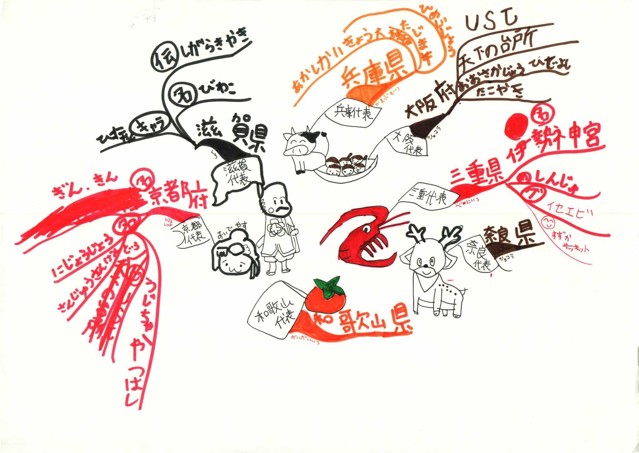 みんなのマインドマップ~近畿地方のうた(小学3~5年生)
