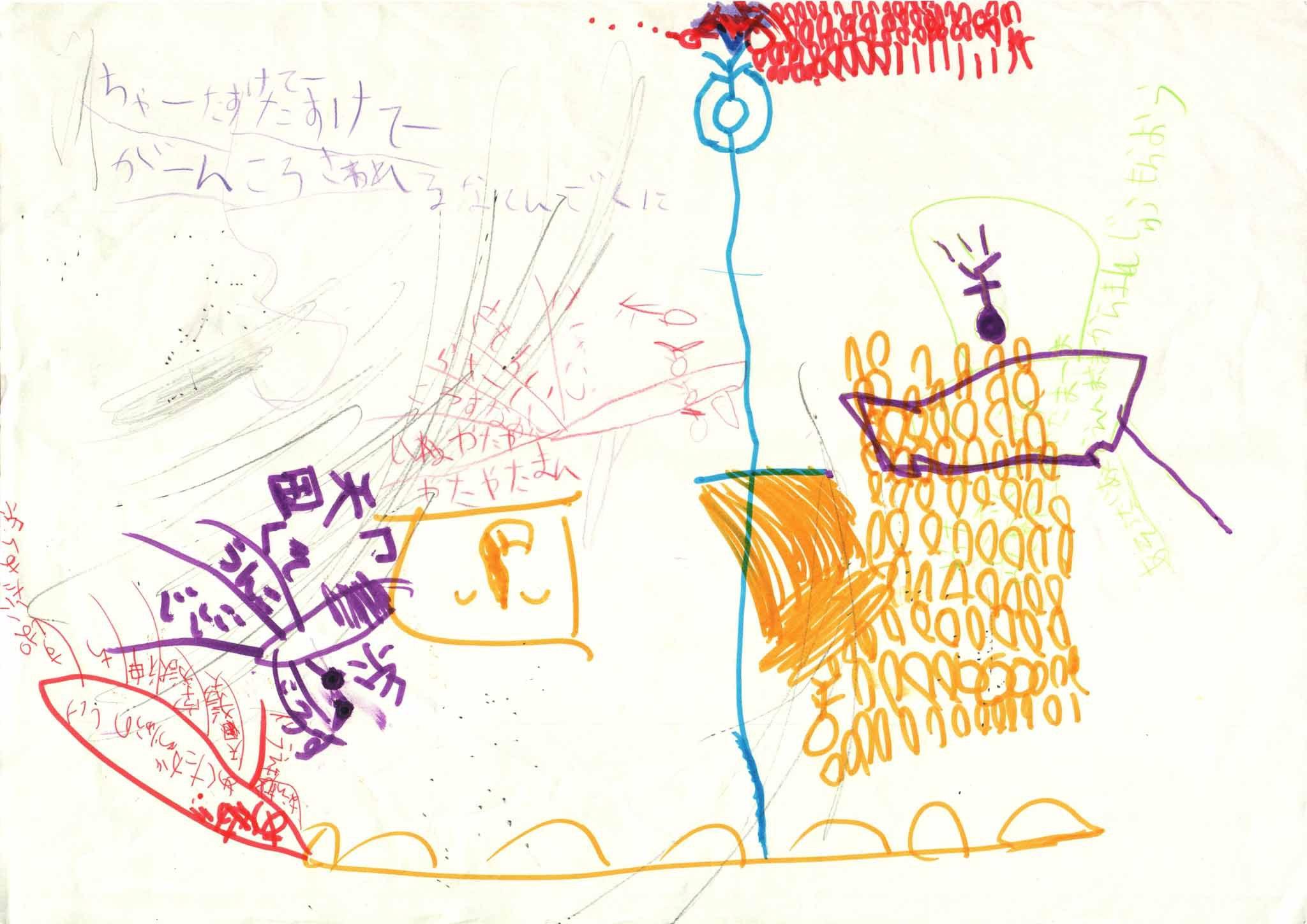 みんなのマインドマップ~蜘蛛の糸(小学2・4年生)
