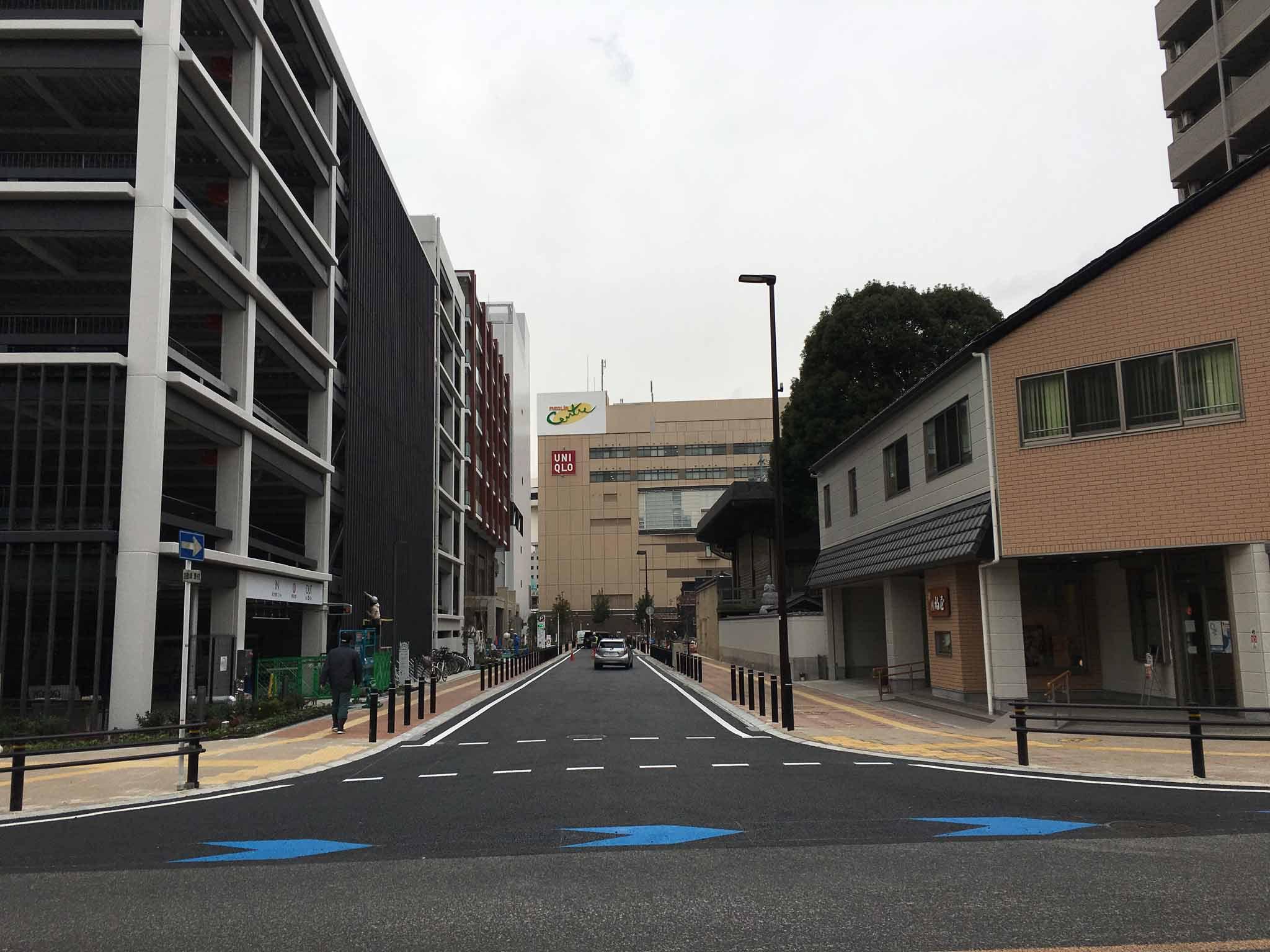 RAKUTO豊田校前の道路工事が完了しました