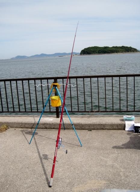海の投げ釣り(宮崎港にて)