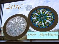 2016年  ローズウィンドウ 光のアートOnde〜  今年もよろしくお願い致します