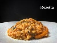 キノコと魚介のトマト煮 リゾット