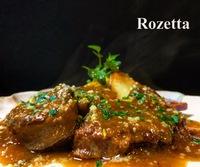 牛スネ肉の白ワイン煮とオードブル