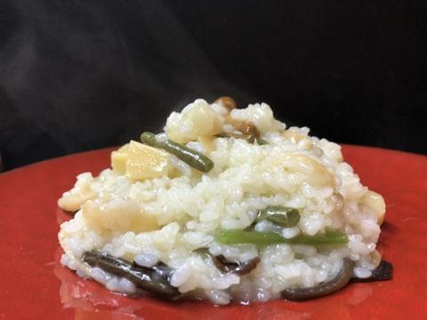 山菜とパルミジャーノチーズのリゾット