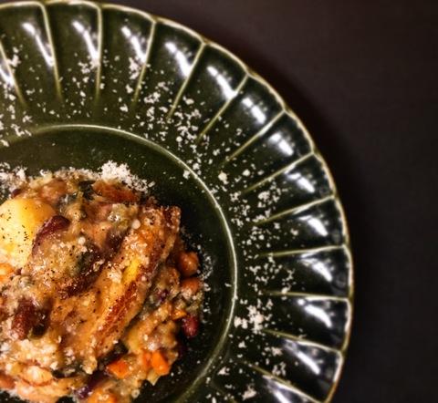 豚バラ肉とゴロゴロ野菜の白ワイン煮