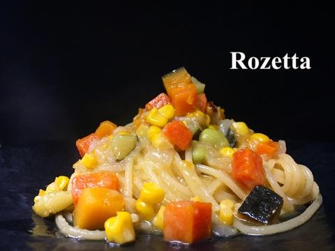 夏野菜のオイル煮 スパゲッティ