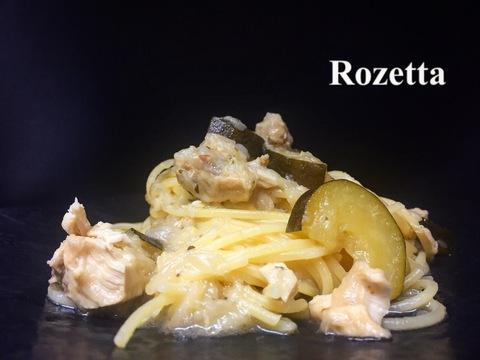 カジキマグロとズッキーニのオイルラグー スパゲッティ