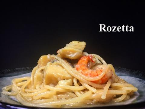 魚介のオイル煮込み スパゲティ