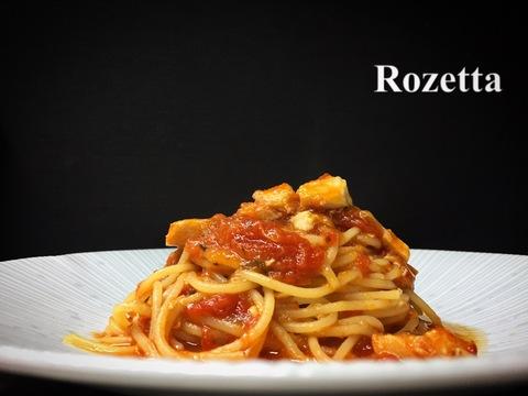 カジキマグロのトマト煮込み スパゲッティ