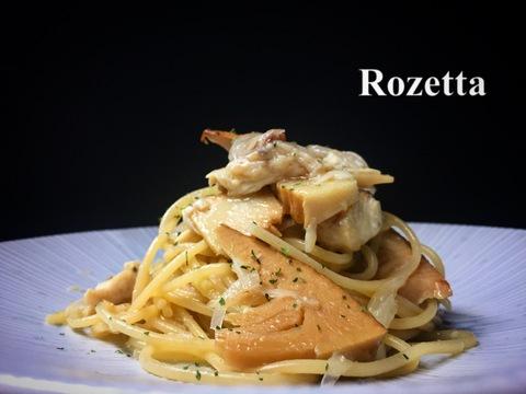 サワラと燻製タケノコのオイル スパゲッティ