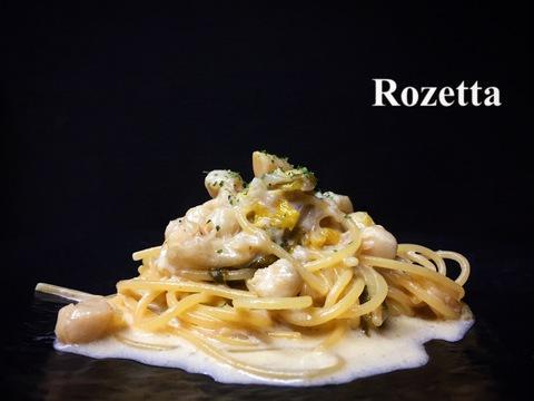 白菜と小柱のクリーム スパゲッティ