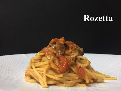 ツナとキノコのトマトソース スパゲッティ
