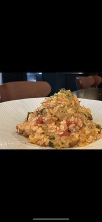 魚介とカブのトマトソース リゾット & オードブル