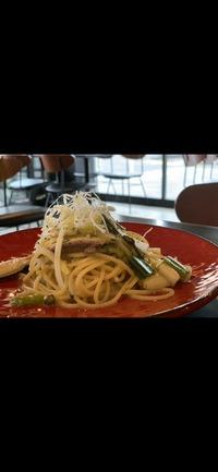 秋刀魚と白ネギのオイル スパゲッティ