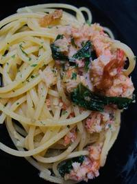 紅ズワイガニのオイル スパゲッティ